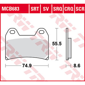 TRW BRAKE-PADS SINTER MCB 683 SRT