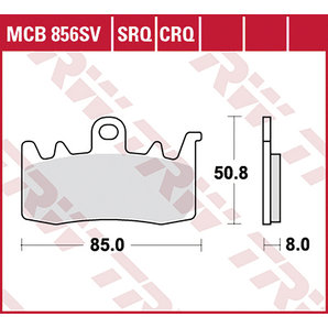 TRW BRAKE-PADS SINTER MCB 856 SRT