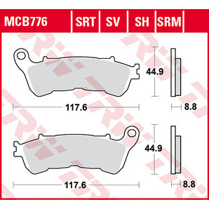 TRW BRAKE-PADS SINTER MCB 776 SRT