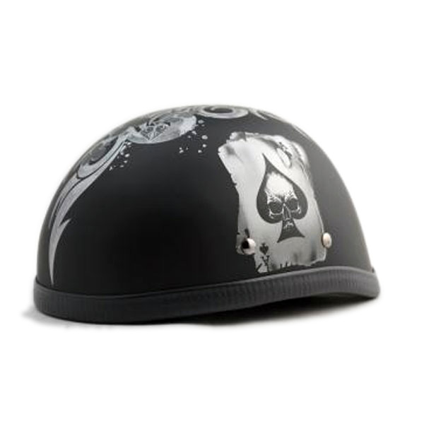Motobluez [HORIZON] Design Half Helmet Matte Black Graphic