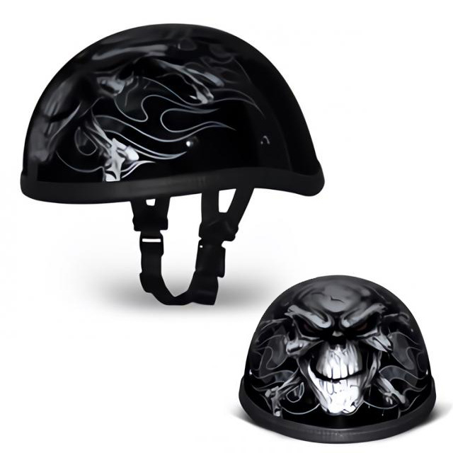 Motobluez [HORIZON] Design Half Helmet Eagle CROSS BONES