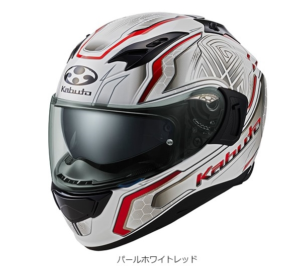 OGK KAMUI 3 CIRCLE [Pearl White Red] Helmet