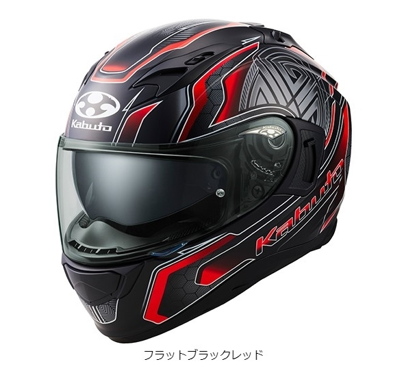 OGK KAMUI 3 CIRCLE [Flat Black Red] Helmet