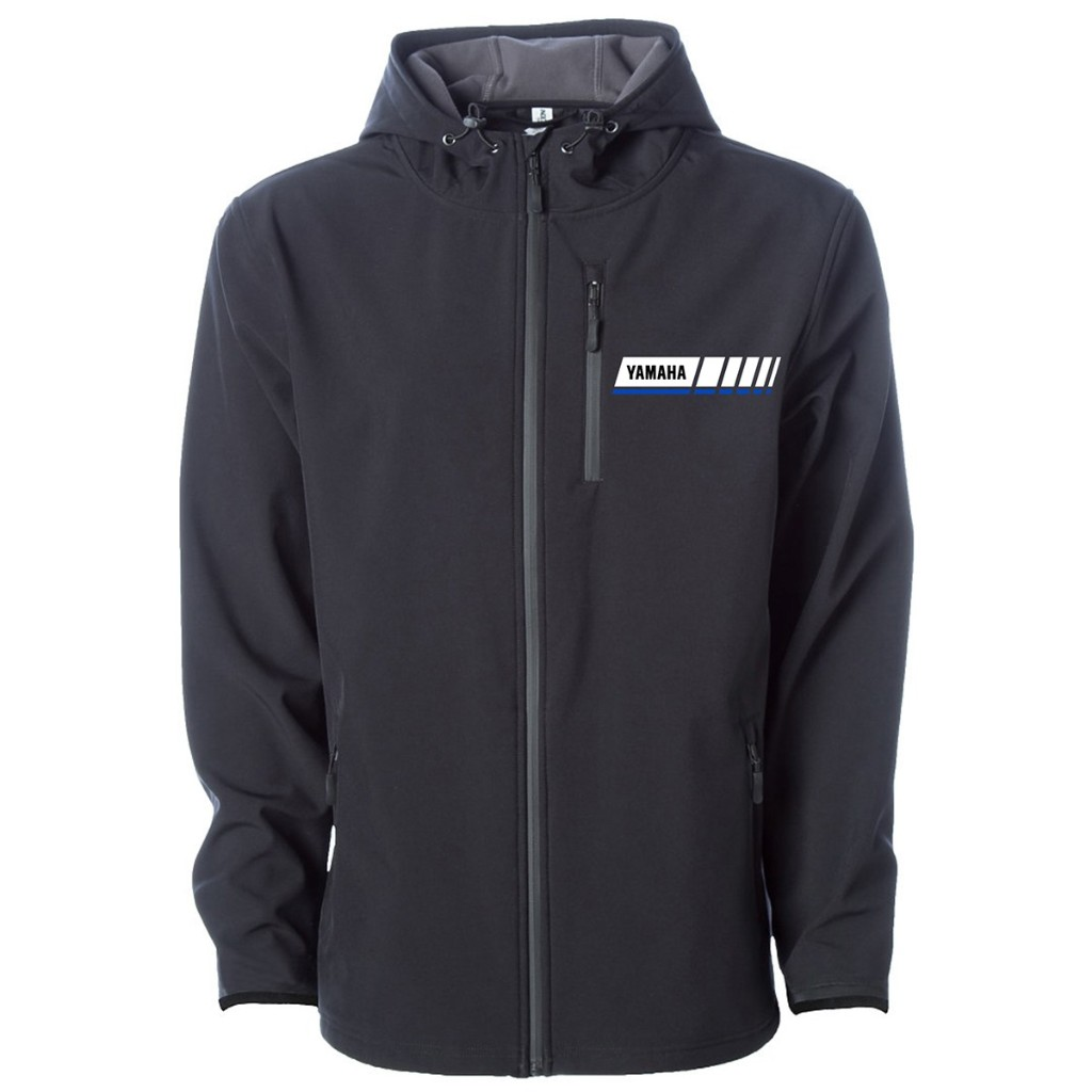 Blue Revs Yamaha Full-zip Hooded Soft Shell Jacket