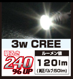 DELTA DIRECT HL LED T10 CREE 3W 6000K
