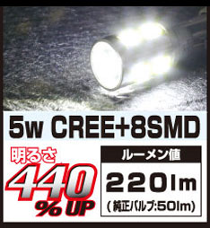 DELTA DIRECT HL LED T10 CREE 5W 6000K