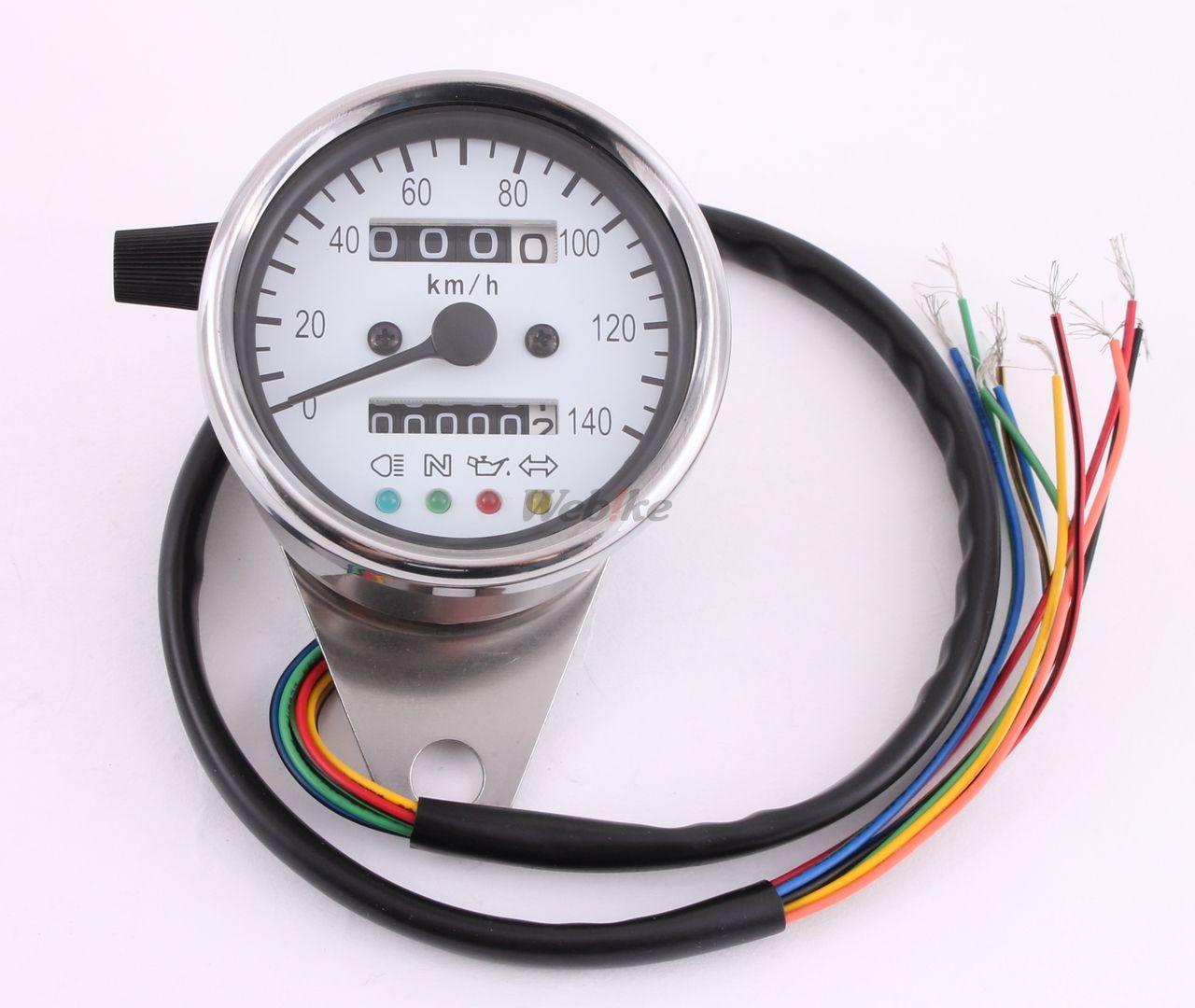 Minimoto Speedometer 140km H 60 Pie White 0996 Gauge Wiring Diagram Page 1 Of 2