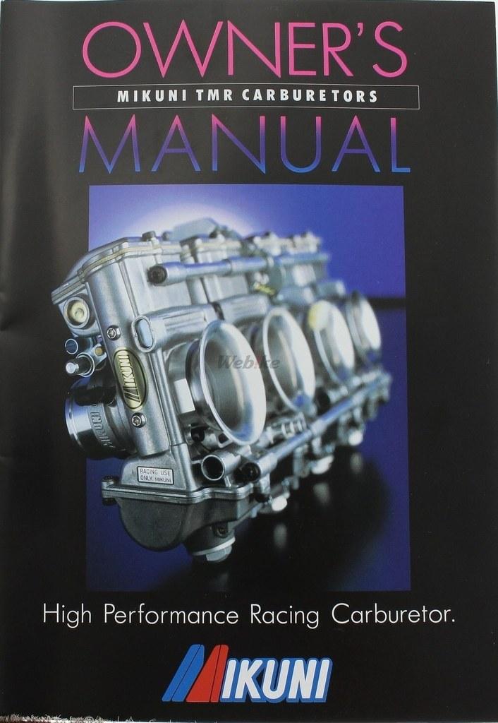 mikuni tmr carburetor owners manual 775 000 1000 rh japan webike net