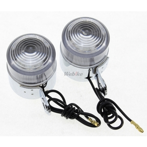 WebikeMode [Closeout Item] MONKEY TYPE LED Blinker Clear [Special Price Item]