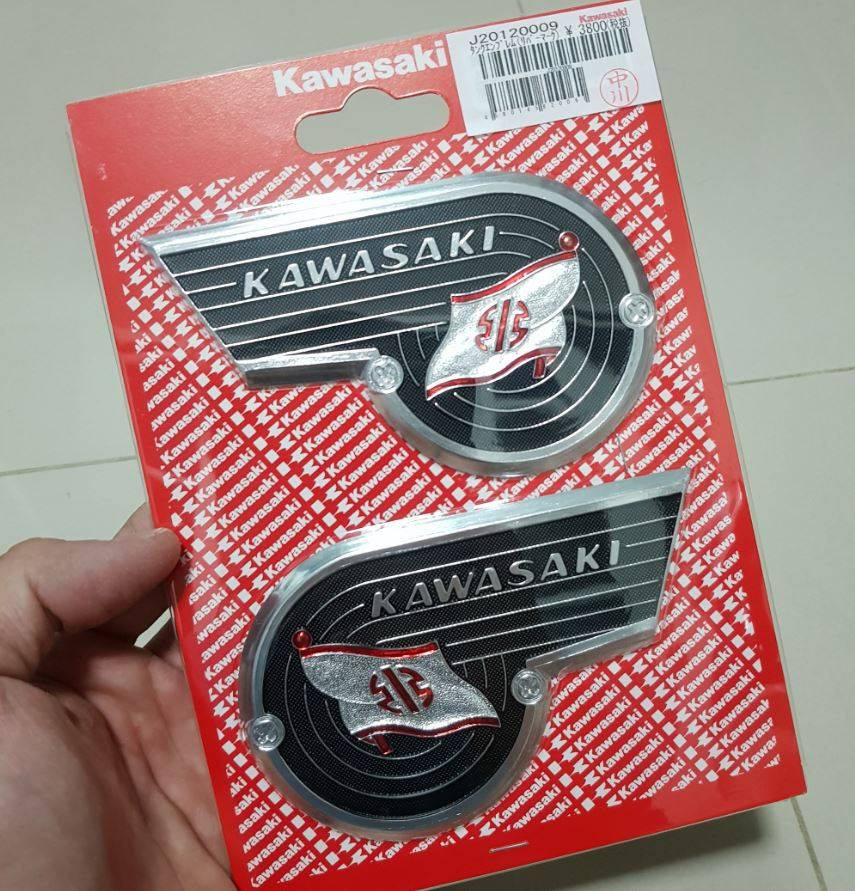 Kawasaki Emblem River Mark Set Of Right And Left J2012 0009