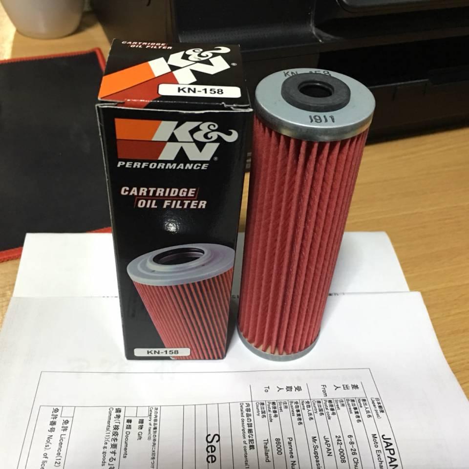 KN-303 K/&N Oil Filter FOR KAWASAKI EX300 NINJA ABS 296