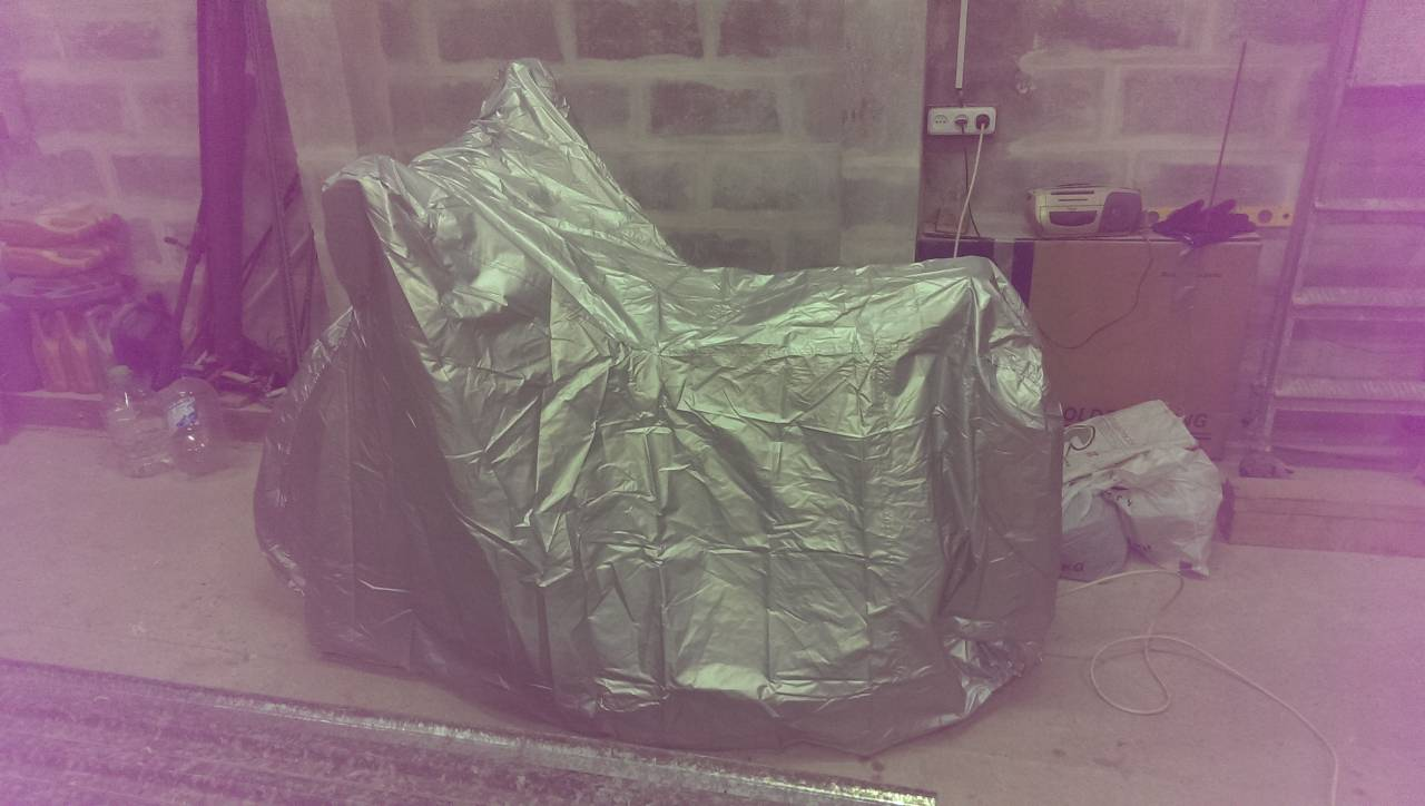 Taffeta Motorcycle Cover with Keyhole