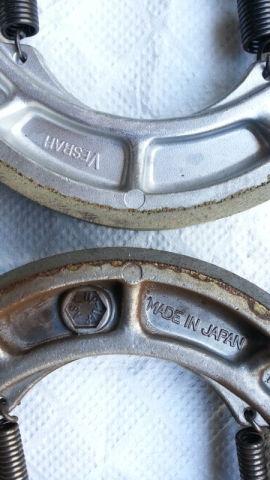Front Vesrah Brake Shoes for SUZUKI GT750 71