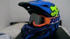 FOX V1 Helmet RACE BLU/YEL