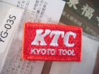 KTC Patch per logo KTC